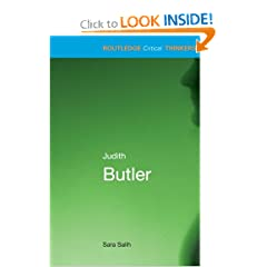 Judith Butler (Routledge Critical Thinkers)