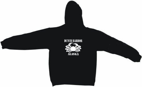 Dutch Harbor Alaska Crab Logo Men's Hoodie Sweat Shirt XXXL Black