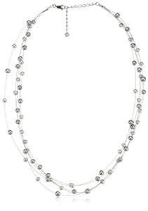 Valero Pearls Classic Collection Damen-Kette Hochwertige Süßwasser-Zuchtperlen in ca.  6 mm Oval weiß / silber 925 Sterling Silber    50 cm   400321