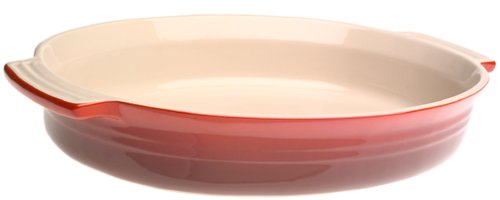 Le Creuset Stoneware 14-Inch Oval Baking Dish, Cherry (Le Cruset Roasting Pan compare prices)