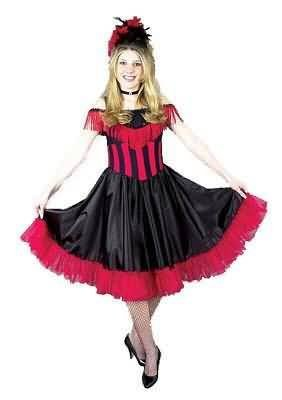 Fancy Saloon Girl /Can Can Girl Costume Dress - (Runs Small, see desc.)