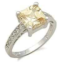 Replica of Sex and the City Charlotte Citrine CZ Ring