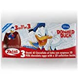 1 x Zaini Disney Donald Duck chocolate egg - 3 per box- Made in ITALY