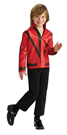 Michael Jackson Costume, Child's Thriller Red Jacket Costume