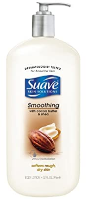 Suave Body Lotion, Smoothing with Cocoa Butter and Shea 32 oz