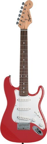 Squier By Fender Mini Strat Electric Guitar, Torino Red Children, Kids, Game