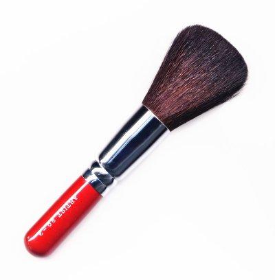 竹宝堂化粧筆 パウダーブラシ 20ー3 赤軸 熊野筆