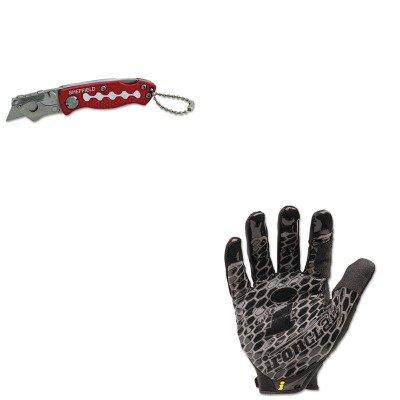 Kitgns58116Irnbhg04L - Value Kit - Great Neck Sheffield Mini Lockback Knife (Gns58116) And Ironclad Performance Wear Box Handler Gloves (Irnbhg04L)
