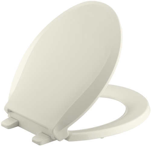 KOHLER K-4639-96 Grip-Tight Cachet(R) Q3 Round Toilet Seat,  Biscuit