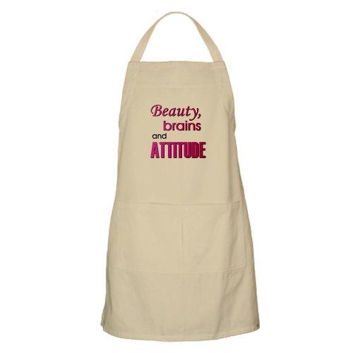 Cafepress Pink Beauty Brains And Attitude BBQ Apron - Standard