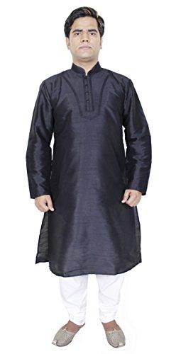 abiti tradizionali indianoi - ricamato Uomo kurta pigiama - abito estivo casuale - 102 cm 'm'