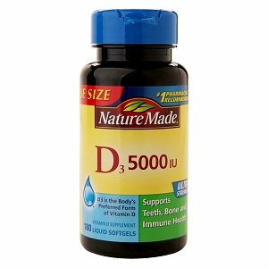 Nature Made Vitamin D3 5000 Iu, Ultra Strength, Softgels 180 Ea