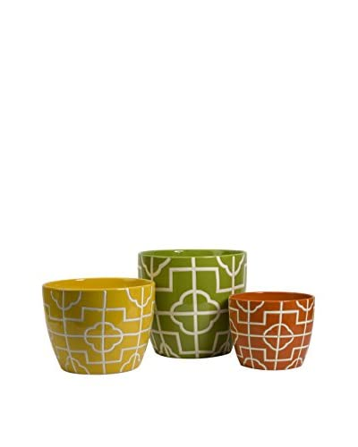 Set of 3 Ellis Graphic Planters