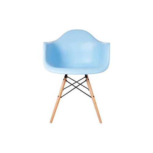 mueblespacio - Sill�n Style wood - MSD151715319 - Azul Cielo Claro, polipropileno