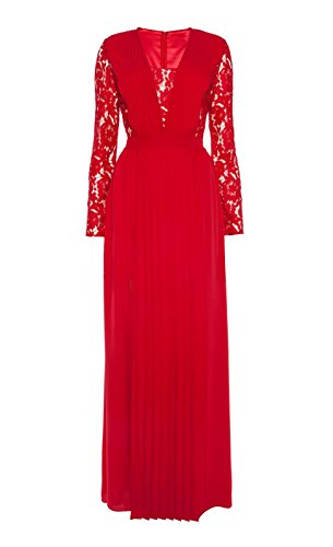 Sherrydress Women's Red Sexy Long Sleeve Floor-length Party Dress
