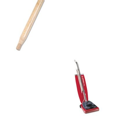 Kitbwk137Euksc684F - Value Kit - Boardwalk Heavy-Duty Threaded End Lacquered Hardwood Broom Handle (Bwk137) And Commercial Vacuum Cleaner, 16Quot; (Euksc684F) front-59455