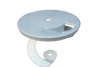 Critter Skimmer 10-Inch Round Pool Skimmer Cover, Gray
