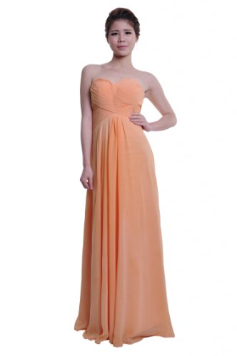 Moonar Chiffon Sweetheart A Line Prom Formal Gown Party Bridesmaid Wedding Dress
