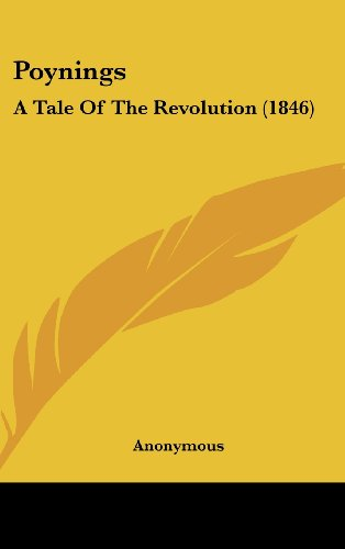 Poynings: A Tale of the Revolution (1846)