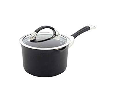 Circulon Symmetry 3.5-qt. Black Hard Anodized Nonstick Straining Saucepan