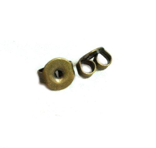 50 Pcs Antique Brass Earring Back 66200ab