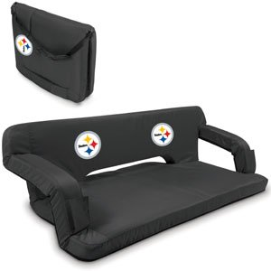 NFL Pittsburgh Steelers Reflex Portable Reclining Travel Couch at SteelerMania