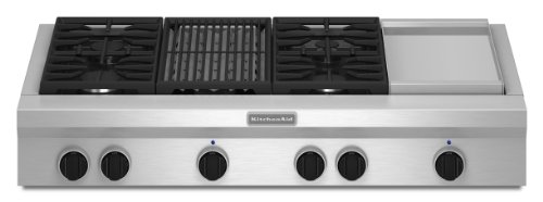 Kitchenaid KGCU484VSS Commercial-Style Gas Cooktop