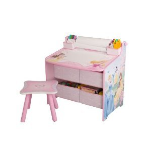 Disney princess art desk with storage - Art desk with storage organization ...