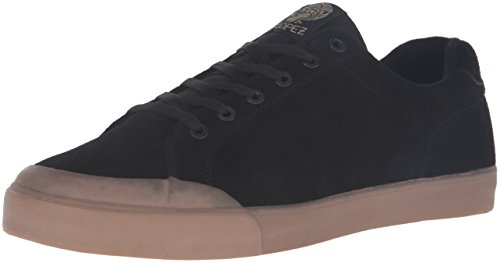 C1RCA Men's AL50R Skateboarding Shoe, Black/Gum, 9.5 M US