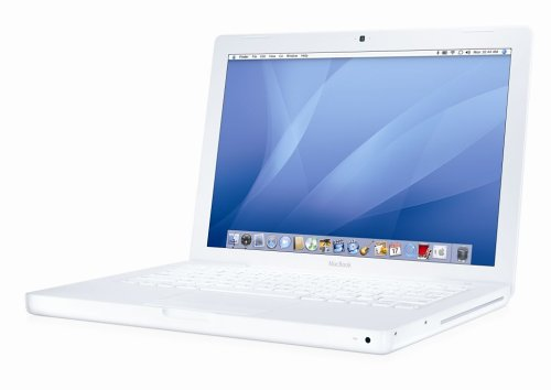 Apple MacBook MB061 33,8 cm (13,3 Zoll) Notebook weiß (Intel Core 2 Duo 2,0GHz, 1GB RAM, 80GB HDD, DVD-ROM/CD-RW)