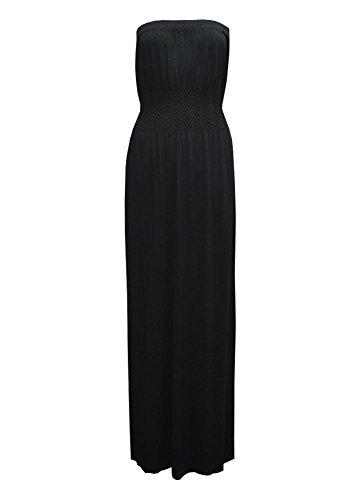 Monstercloset Sleeveless Smocked Seamless Maxi Dress, Black, Small/Medium