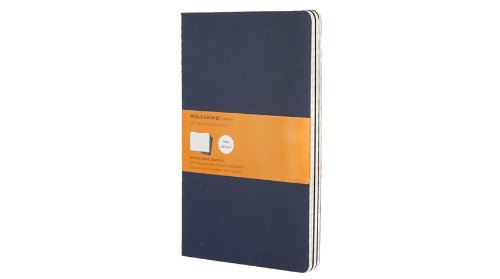 Set of 3 Cahier Large Ruled Journals, Blue Cover