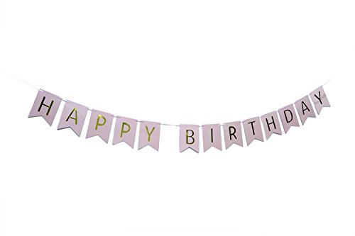 Qadira HAPPY BIRTHDAY Classical Vintage Home Party Decoration Bunting Banner