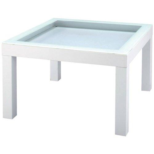 ローテーブル ガラス天板 見せる収納 ナチュラル テイスト チャオ テーブル NET-156WH