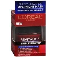 L'Oreal Paris Revitalift Triple Power Intensive Overnight Mask, 1.7 oz