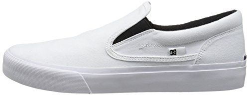 DC Men's Trase Slip-On TX U Skate Shoe,White,9 M US