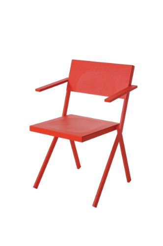 Emu Gartenstuhl Armlehnstuhl Mia rot, Pulverbeschichteter Stahl, Aluminium, Design - Gartenstuhl - Sonnenstuhl - Terrassenstuhl