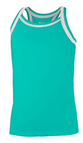 Fila Match Racerback Tank, Electric Green / White, Small