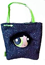 Cartoon Network Powerpuff Girls Denim Novelty Bag Handbag - Green Buttercup