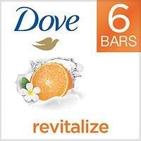 Dove go fresh Revitalize Beauty Bar, 4 oz, Mandarin & Tiare Flower, 6 ea
