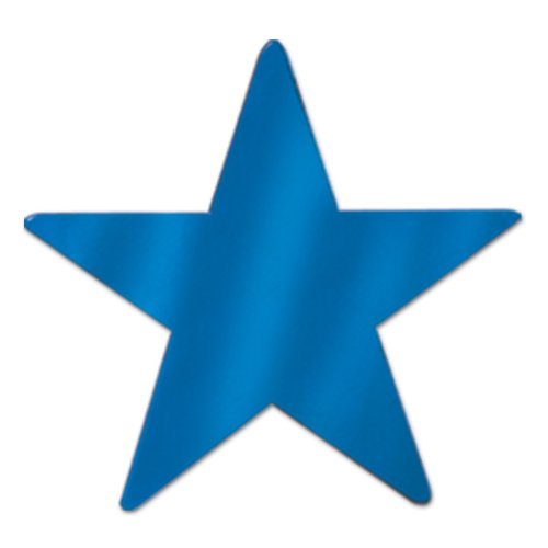 Beistle 12-Pack Metallic Star Cutouts, 3-3/4-Inch
