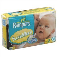 Pampers Swaddlers Diapers Jumbo Size 2 - 36 Count (Pack of 6)