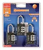 Padlock 30mm Toughlok Combination 3 Pack