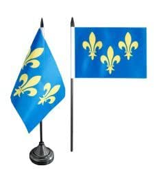 Digni® Drapeau de table France Île-de-France Fleur-de-Lys, mini drapeau - 10 x 15 cm
