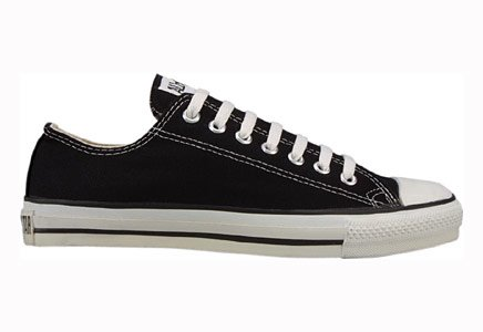 Converse Chuck Taylor All Star Lo Top Black Canvas with Extra Pair of Black Laces men's 11.5 D(M) US WOMEN/ 9.5...