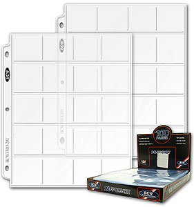 200 BCW Pro 20-Pocket Coin Pages ~ 2 BOXES