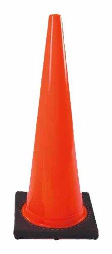 Cortina 03-500-05 Vinyl Traffic Cone with Black Base, 18
