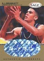 AJ Bramlett Arizona Wildcats - Cleveland Cavaliers 1999 SAGE Authentic Autograph Gold... by Hall of Fame Memorabilia