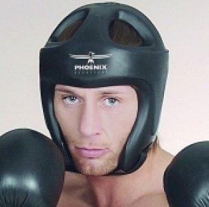 "BAY® ""PHOENIX"" Kopfschutz M /L schwarz Kickboxen Kopfschützer Headguard Kampfsport, Kick-Boxen, Taekwondo, mit WAKO-Lizenz möglich"