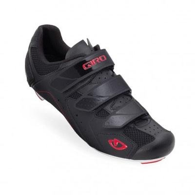 Giro 2012 Mens Treble Road Bike Shoes (Black/White/Red - 43)